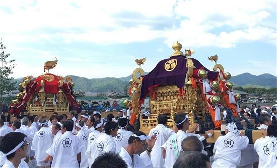 嵯峨祭り神輿 中之島公園