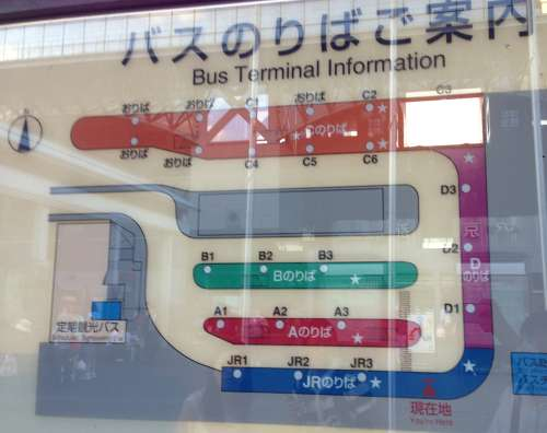 京都駅バス乗り場地図