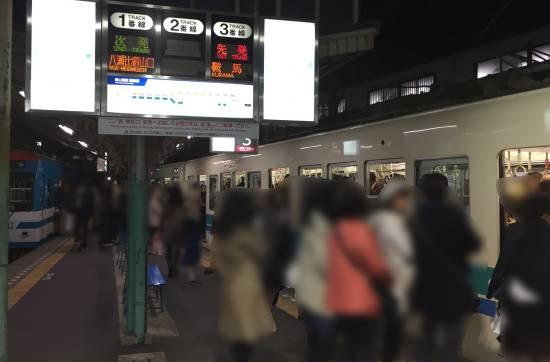 叡山電車紅葉混雑